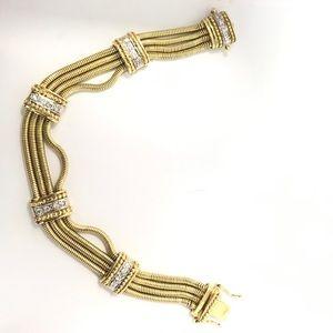 Jewelry - Vintage Women's Gold and Diamond Bracelet